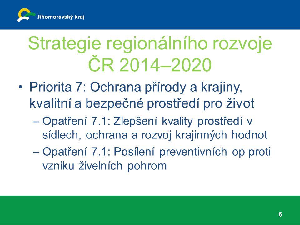 Strategie regionálního rozvoje ČR 2014–2020