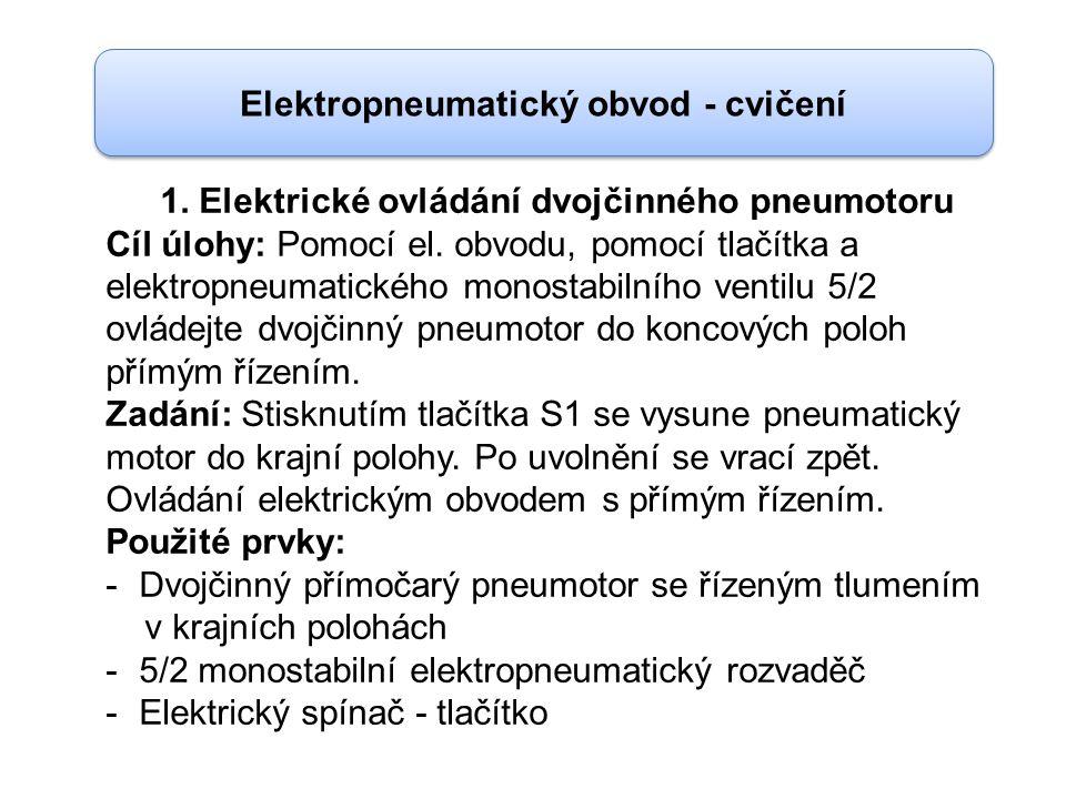 Elektropneumatický obvod - cvičení