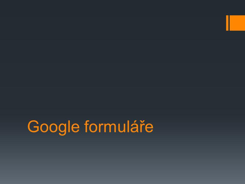 Google formuláře