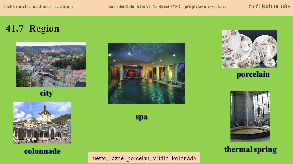 41.7 Region porcelain city spa thermal spring colonnade