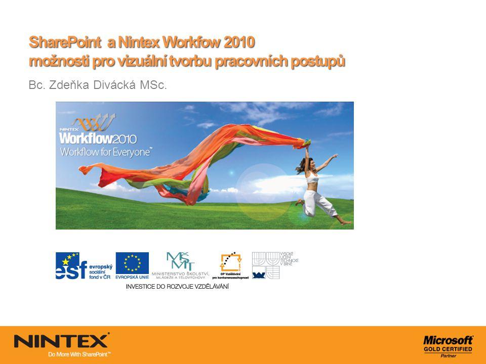 SharePoint a Nintex Workfow 2010 možnosti pro vizuální tvorbu pracovních postupů