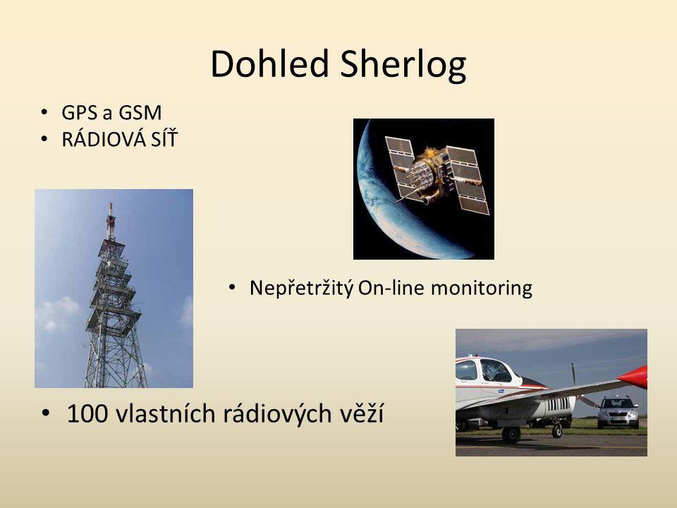 Dohled Sherlog 100 vlastních rádiových věží GPS a GSM RÁDIOVÁ SÍŤ