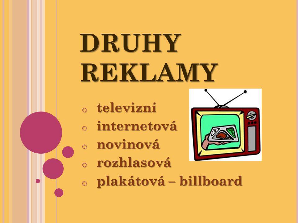 televizní internetová novinová rozhlasová plakátová – billboard