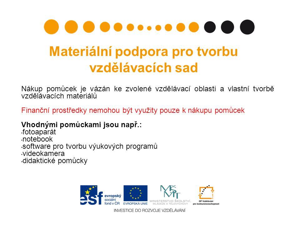 Materiální podpora pro tvorbu vzdělávacích sad