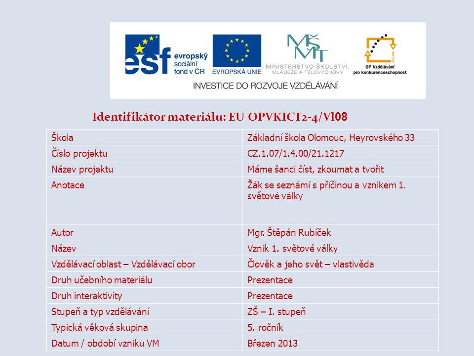 Identifikátor materiálu: EU OPVKICT2-4/Vl08