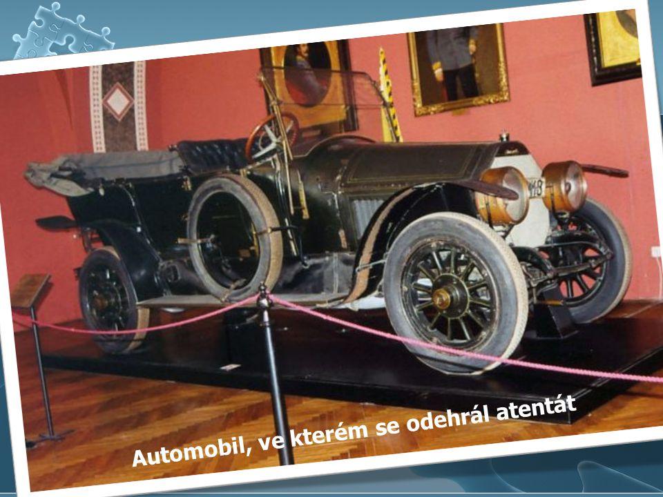 Automobil, ve kterém se odehrál atentát