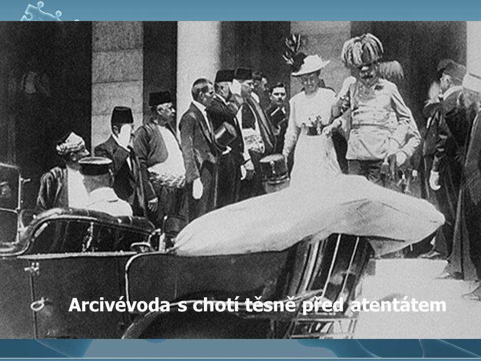 Arcivévoda s chotí těsně před atentátem