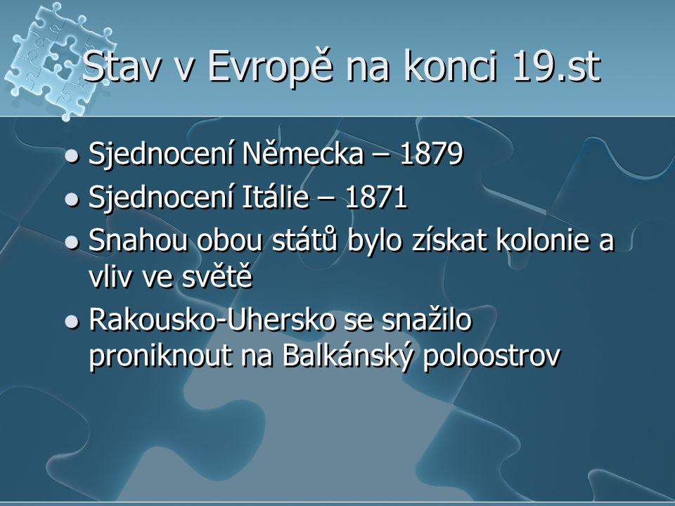 Stav v Evropě na konci 19.st