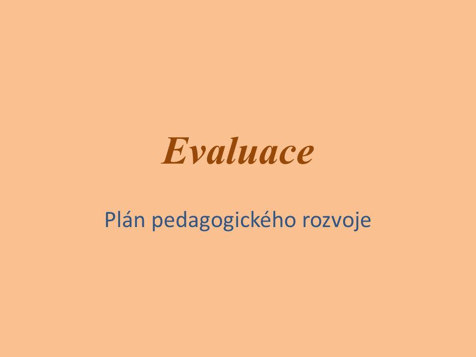 Plán pedagogického rozvoje