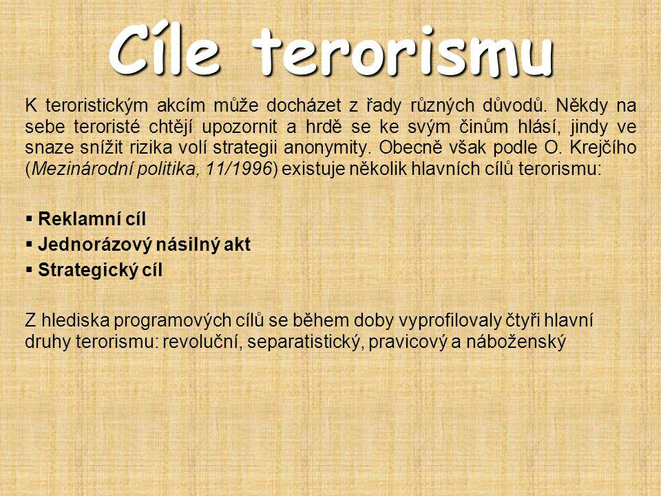 Cíle terorismu