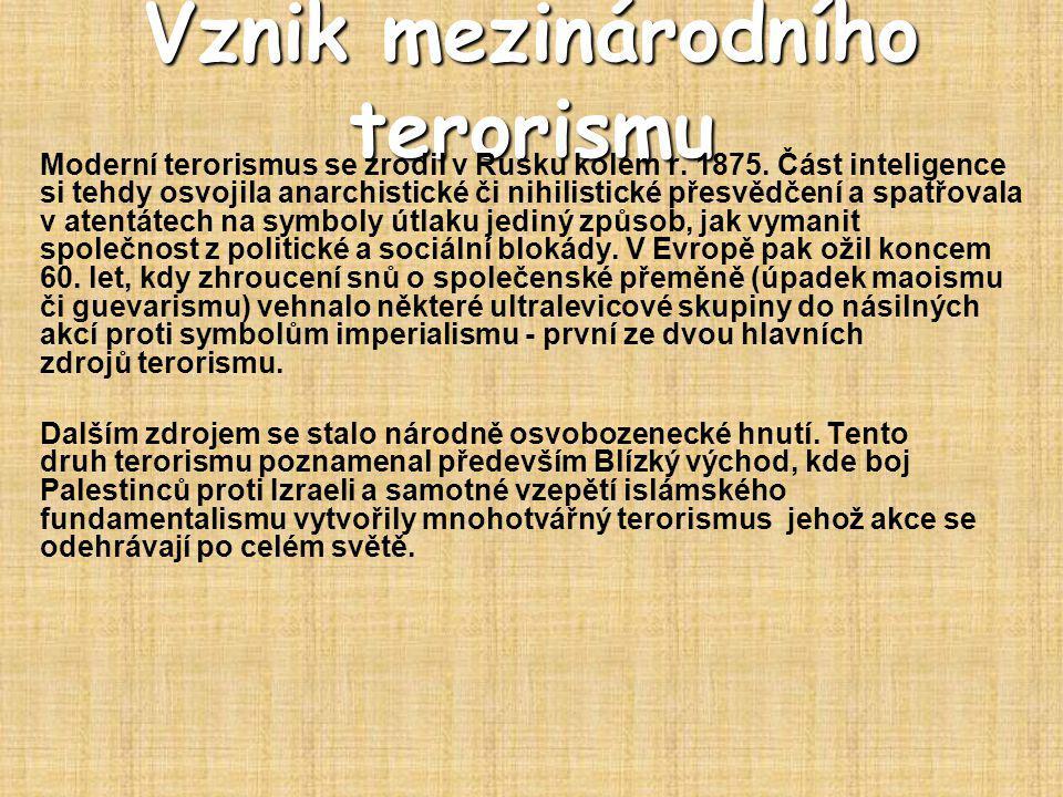 Vznik mezinárodního terorismu