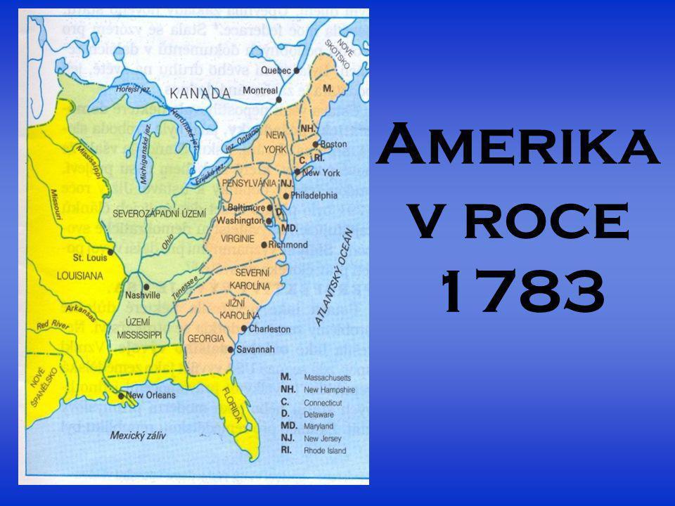 Amerika v roce 1783