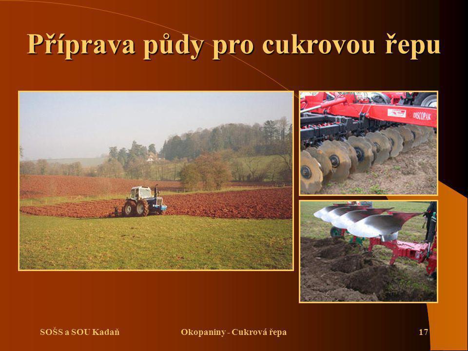 Příprava půdy pro cukrovou řepu Okopaniny - Cukrová řepa