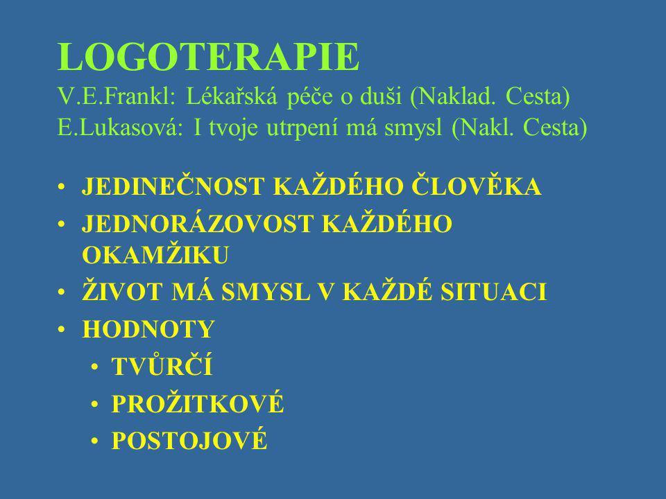 LOGOTERAPIE V. E. Frankl: Lékařská péče o duši (Naklad. Cesta) E