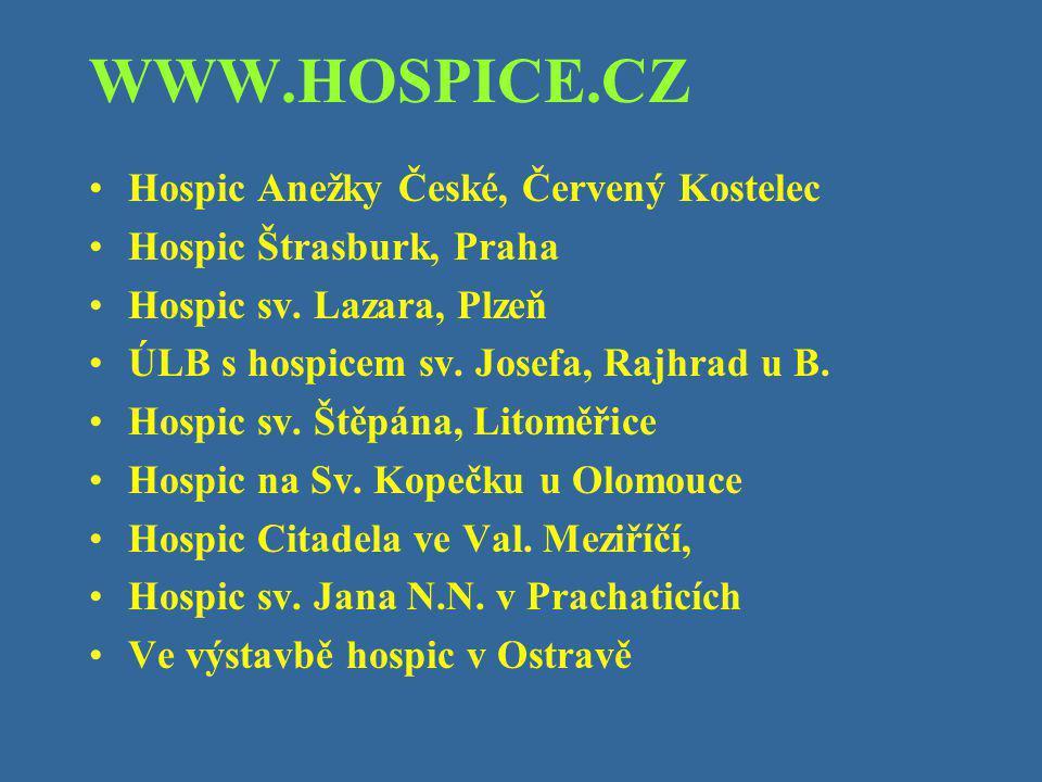 WWW.HOSPICE.CZ Hospic Anežky České, Červený Kostelec