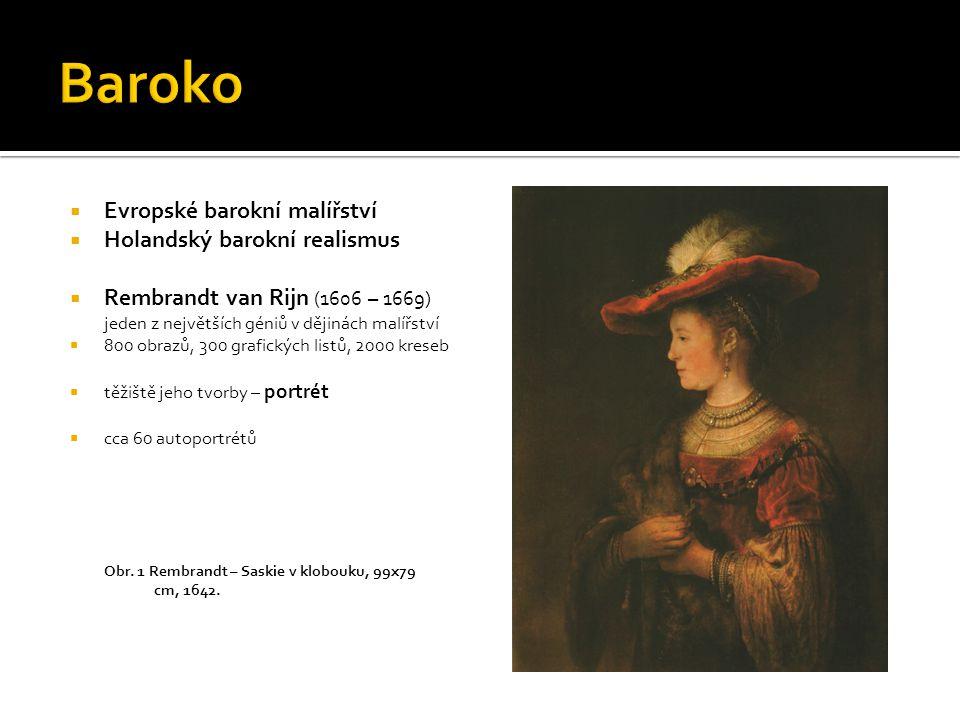 Baroko Evropské barokní malířství Holandský barokní realismus