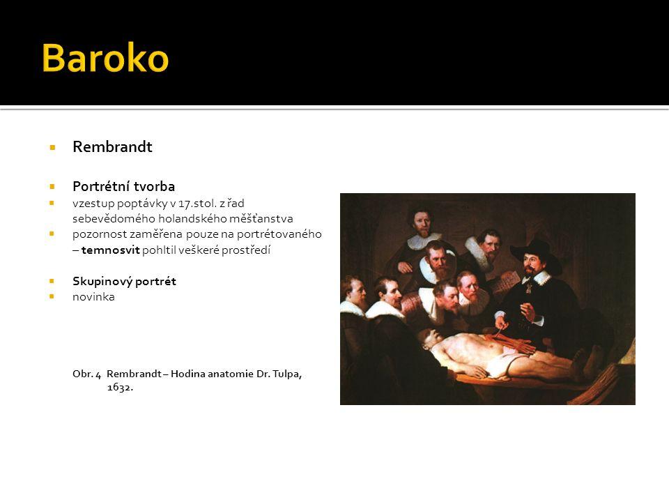 Baroko Rembrandt Portrétní tvorba