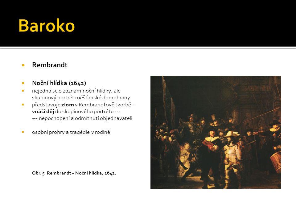 Baroko Rembrandt Noční hlídka (1642)
