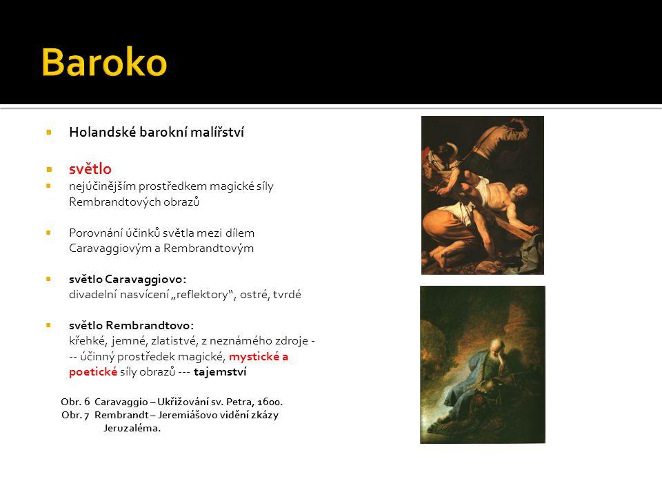 Baroko světlo Holandské barokní malířství