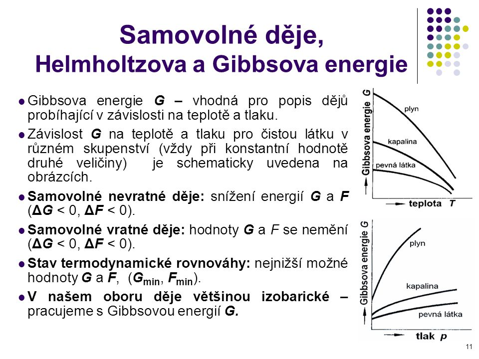 Samovolné děje, Helmholtzova a Gibbsova energie