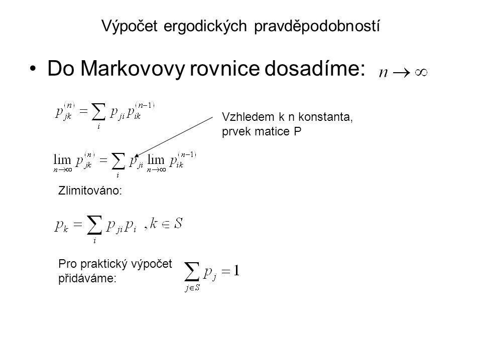 Výpočet ergodických pravděpodobností