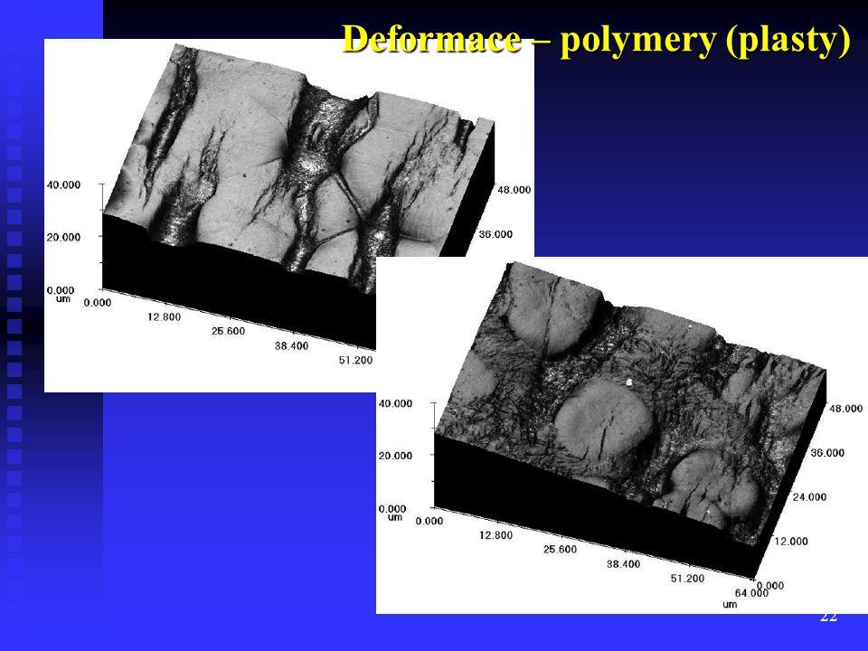 Deformace – polymery (plasty)