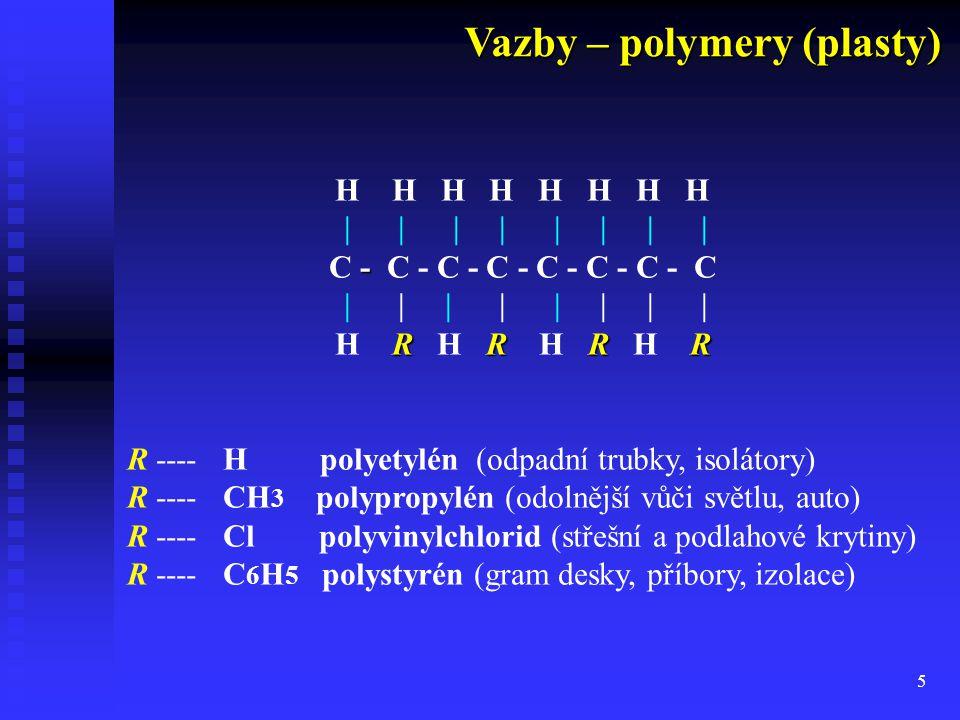Vazby – polymery (plasty)