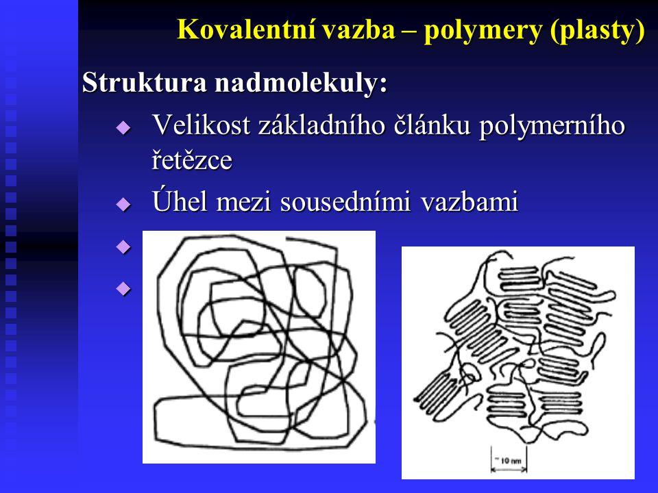 Kovalentní vazba – polymery (plasty)