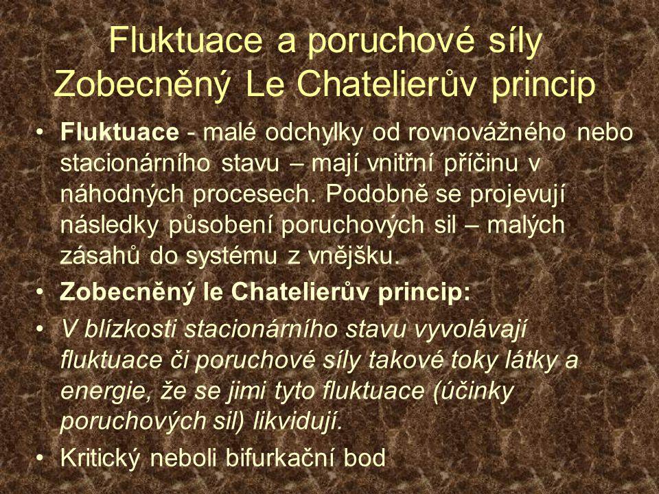 Fluktuace a poruchové síly Zobecněný Le Chatelierův princip
