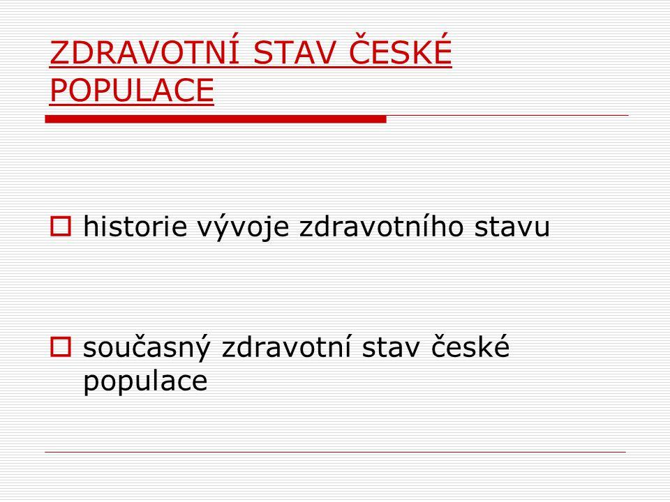 ZDRAVOTNÍ STAV ČESKÉ POPULACE