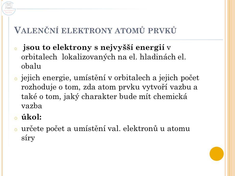 Valenční elektrony atomů prvků