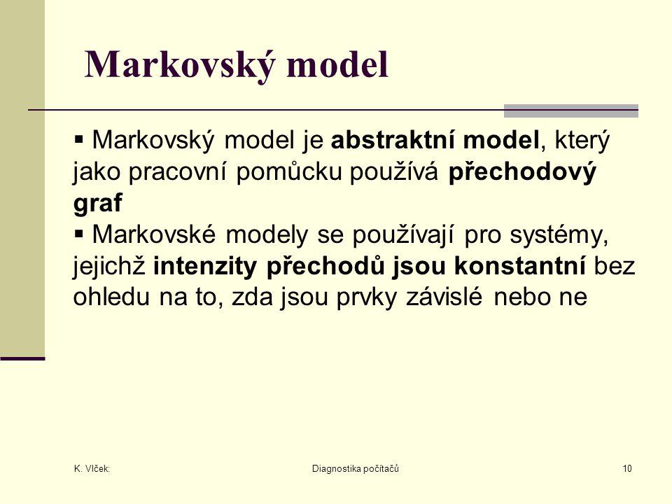 Markovský model Markovský model je abstraktní model, který jako pracovní pomůcku používá přechodový graf.