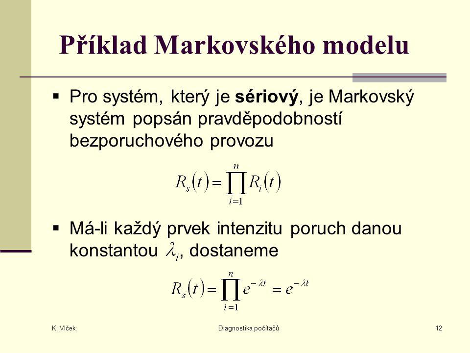 Příklad Markovského modelu