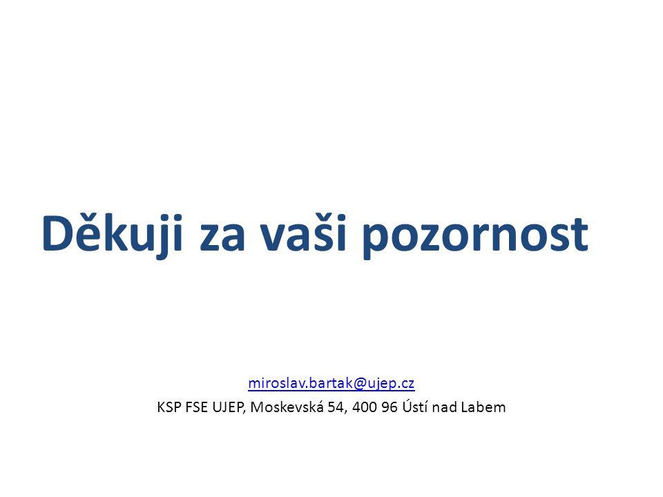 KSP FSE UJEP, Moskevská 54, 400 96 Ústí nad Labem