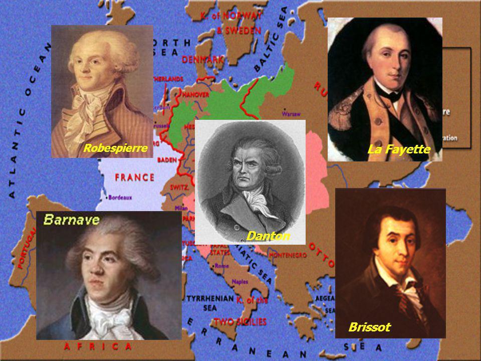 Robespierre La Fayette Danton Brissot