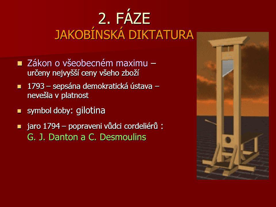 2. FÁZE JAKOBÍNSKÁ DIKTATURA