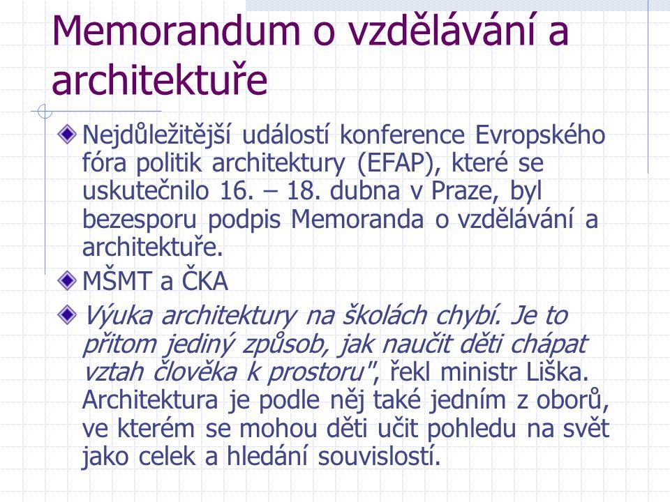 Memorandum o vzdělávání a architektuře