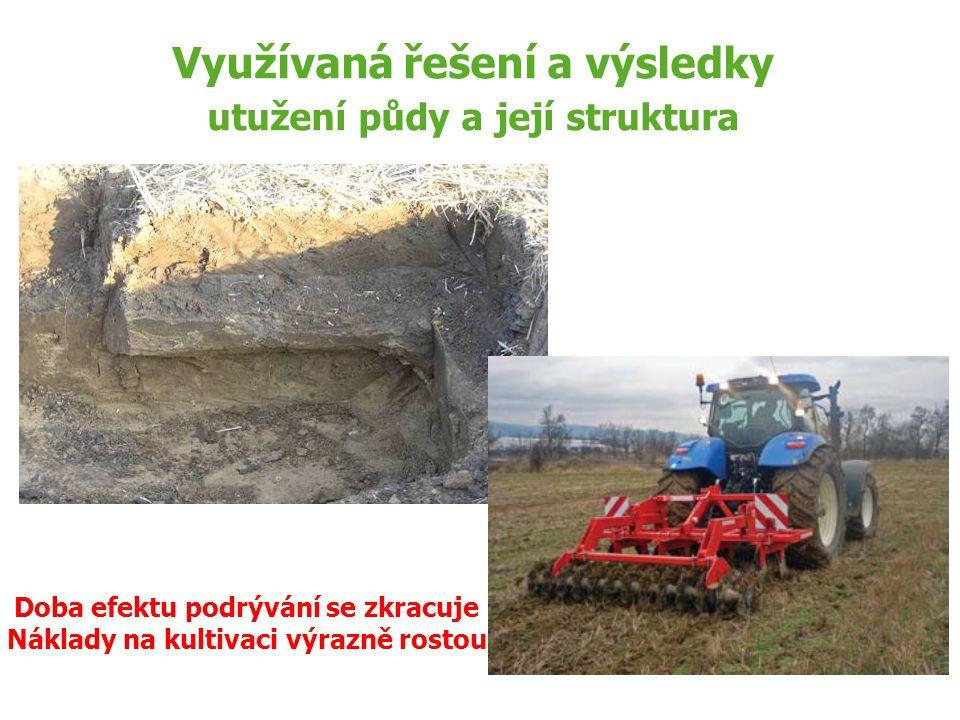 Využívaná řešení a výsledky utužení půdy a její struktura