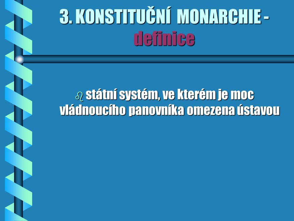 3. KONSTITUČNÍ MONARCHIE - definice