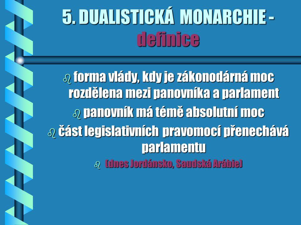 5. DUALISTICKÁ MONARCHIE - definice