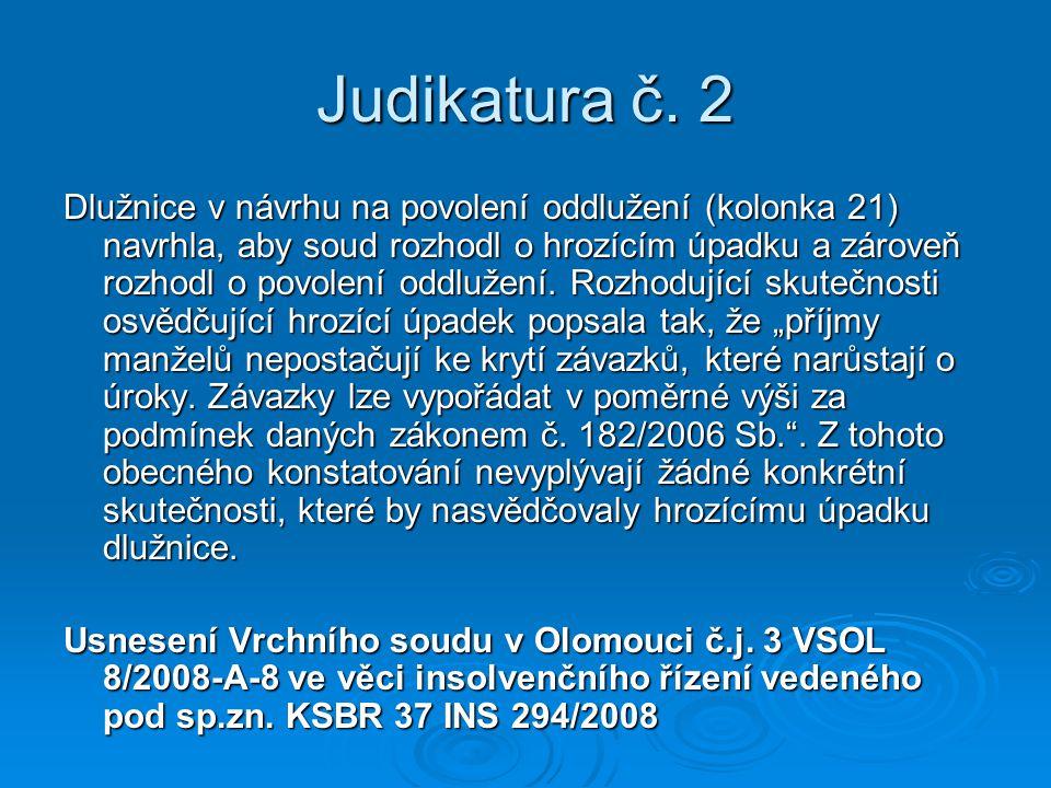 Judikatura č. 2