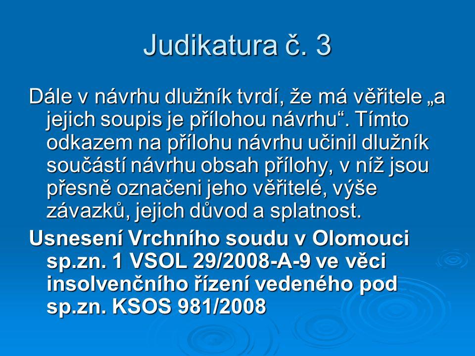 Judikatura č. 3