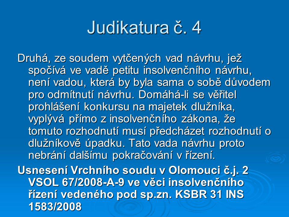 Judikatura č. 4