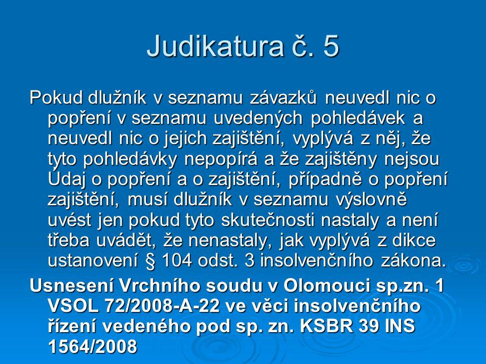Judikatura č. 5