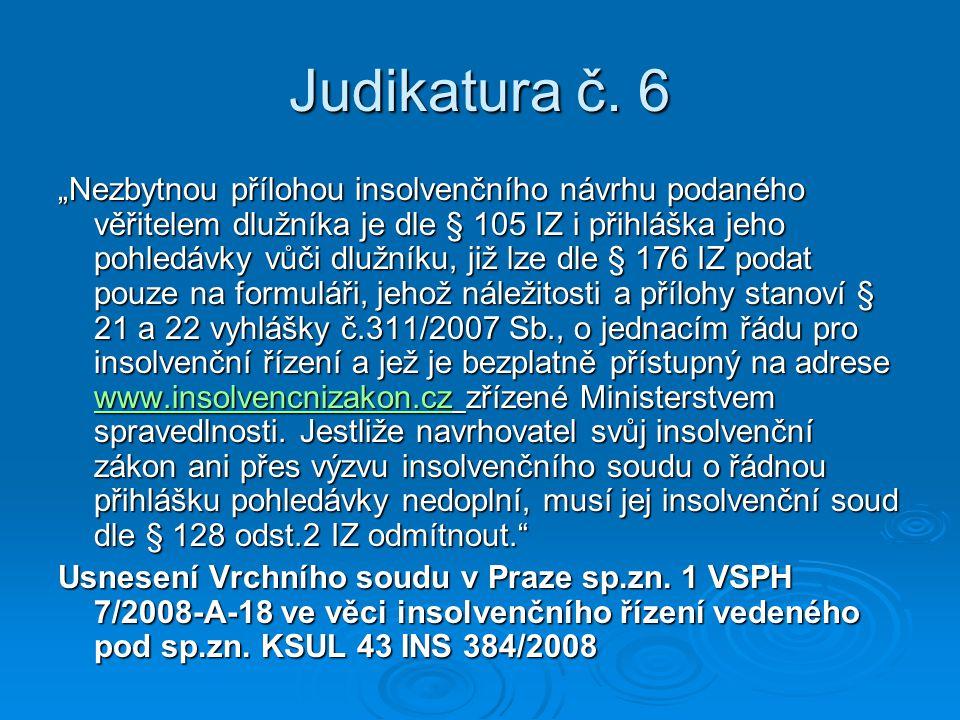 Judikatura č. 6