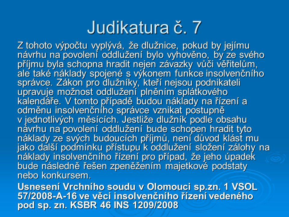 Judikatura č. 7