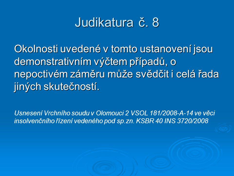 Judikatura č. 8