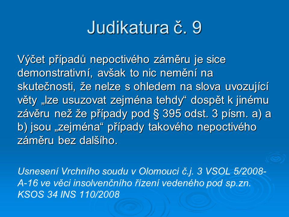 Judikatura č. 9