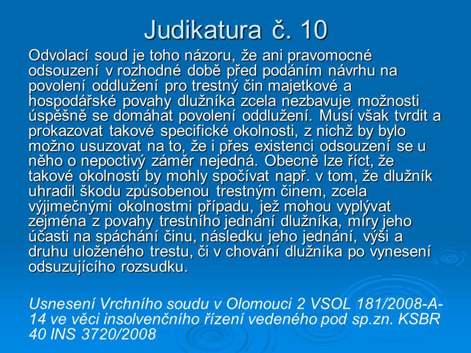 Judikatura č. 10