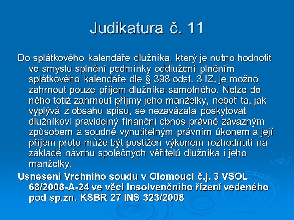 Judikatura č. 11